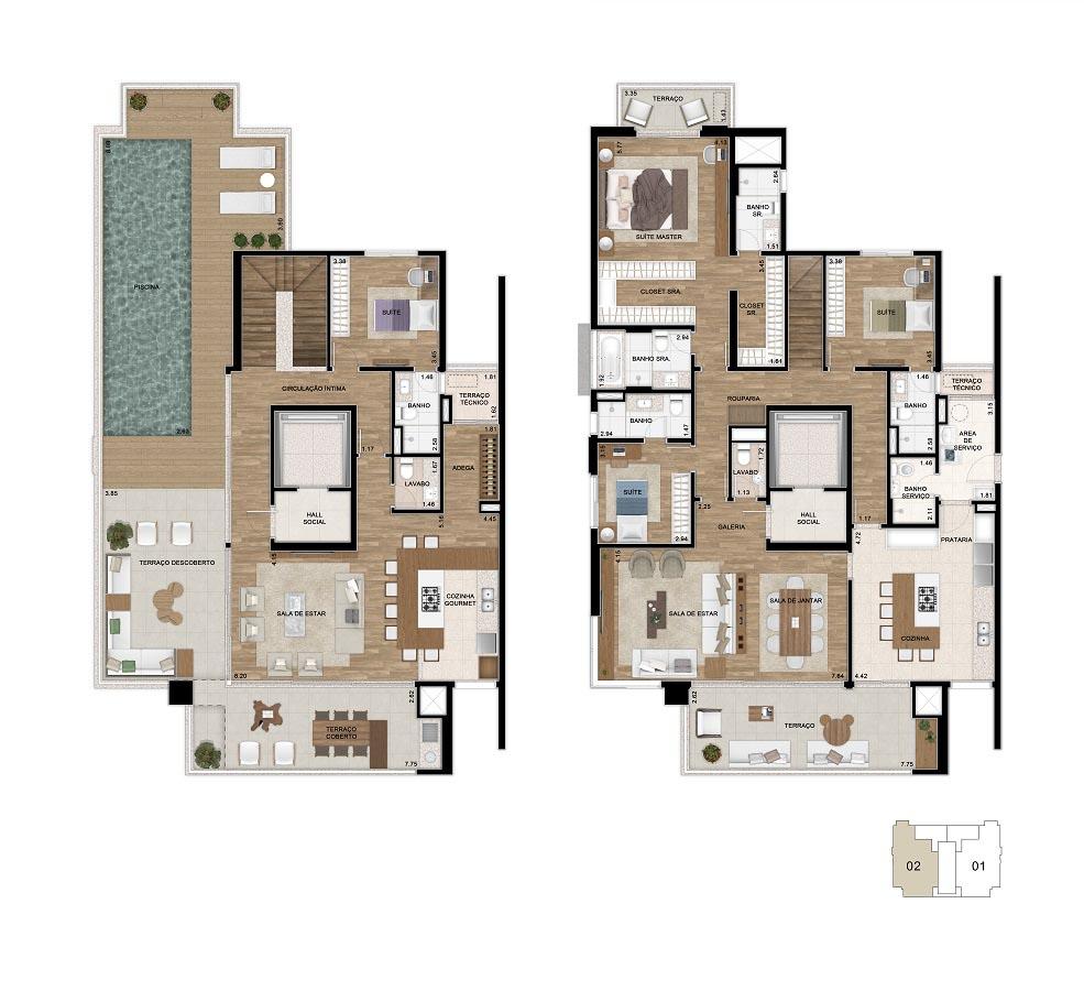 Planta 387m² - Duplex