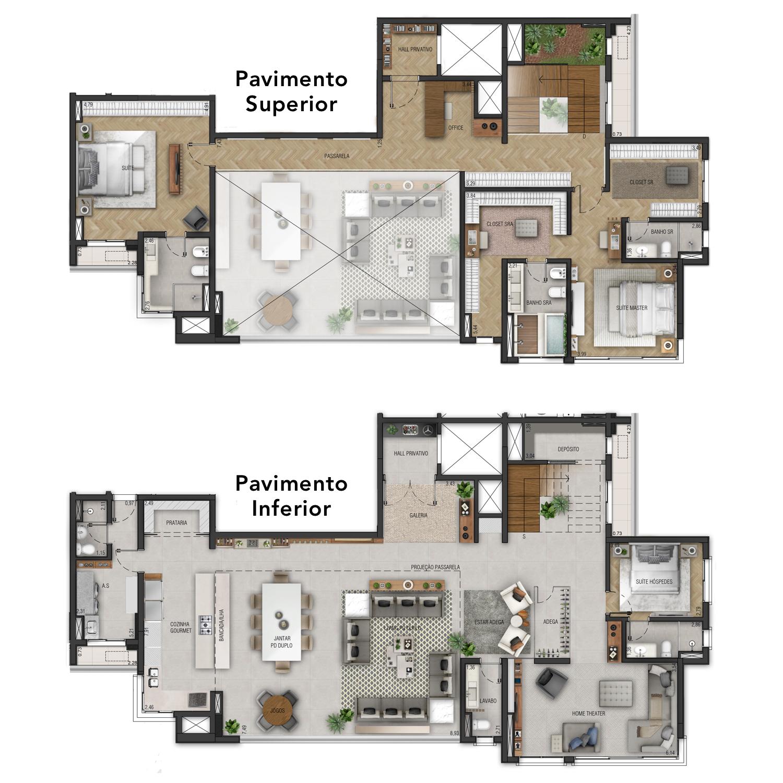 Planta 424m² - Duplex