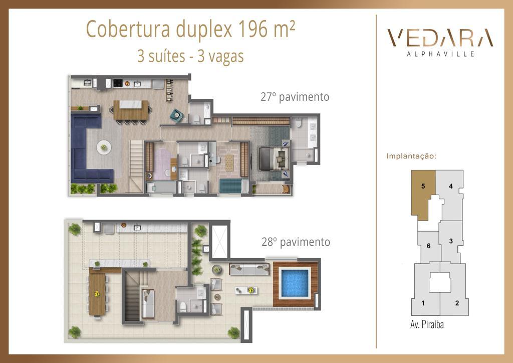 Cobertura Duplex 196m²