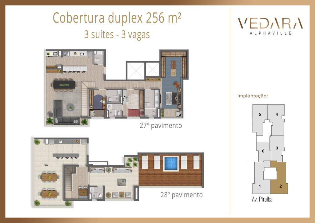 Cobertura Duplex 256m²
