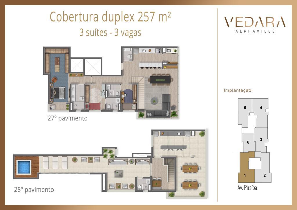 Cobertura Duplex 257m²