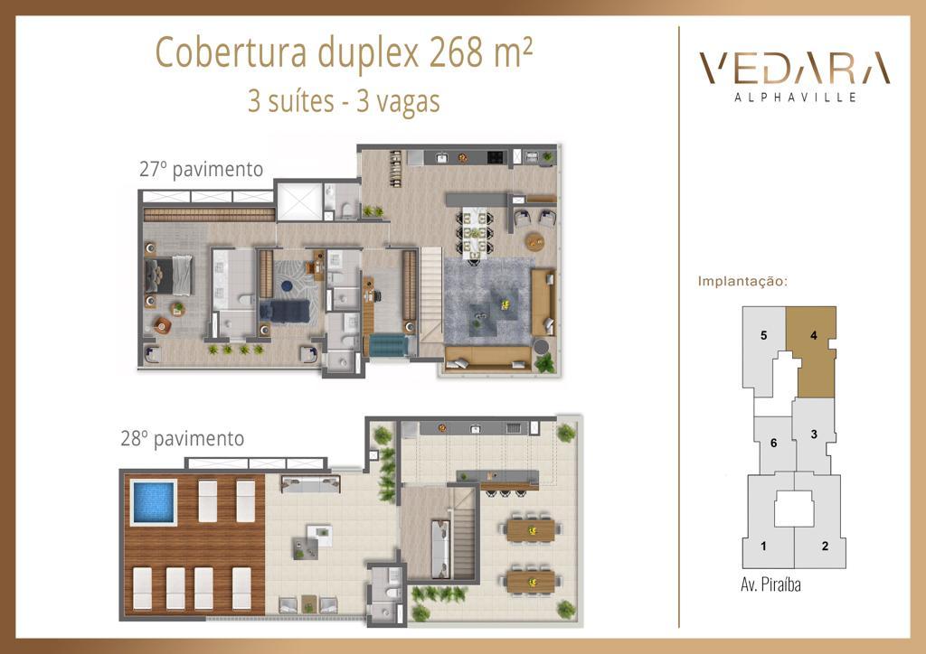 Cobertura Duplex 268m²