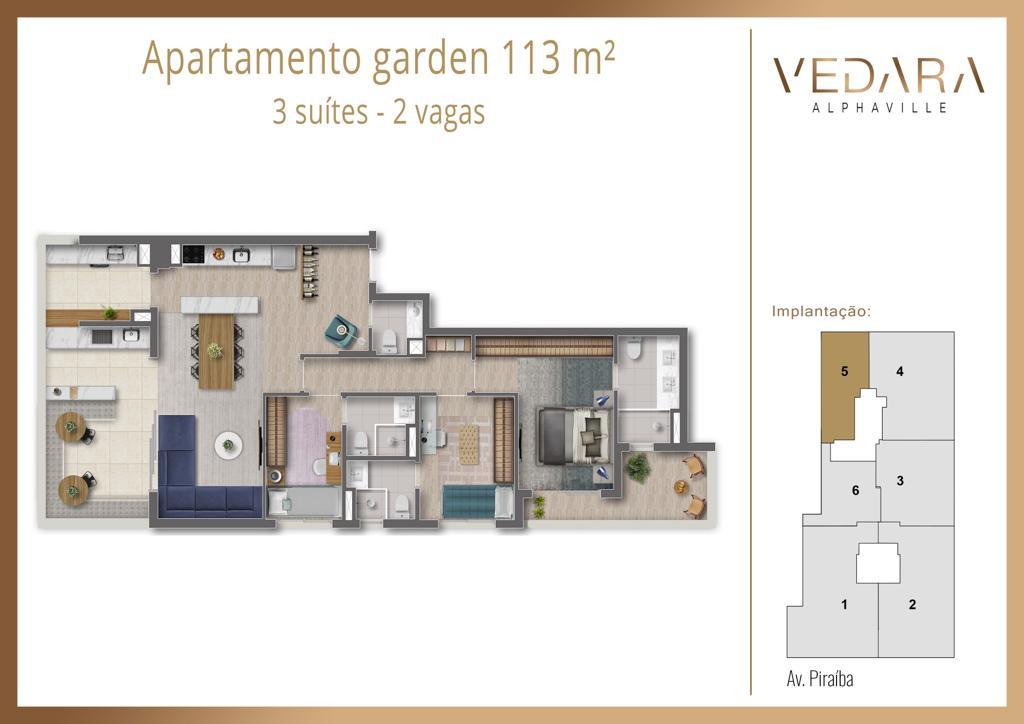 Planta Garden 113m²
