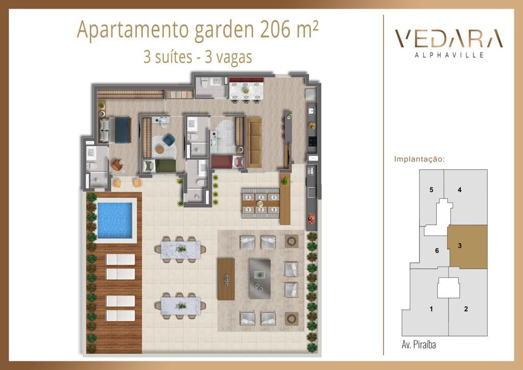 Planta Garden 206m²
